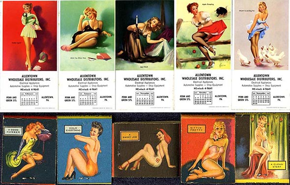 pin up matches blotters