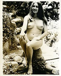 hippierocks - 1960s Nude Hippie Girl On The Rocks