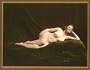 p4s42 Henry Shaw Hand Tinted Reclining Nude