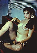 P4S48 Sultry Gal Full Frontal 1950s 35mm